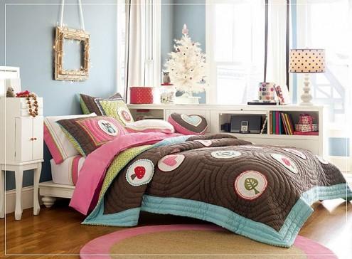แบบห้องนอนลายดอกไม้