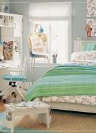 ตกแต่งห้องนอน โทนสีเขียว