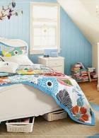 แบบห้องนอน สีฟ้าอ่อน