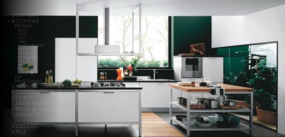 ตกแต่งห้องครัว โทนสีเขียว สไตล์โมเดิร์น