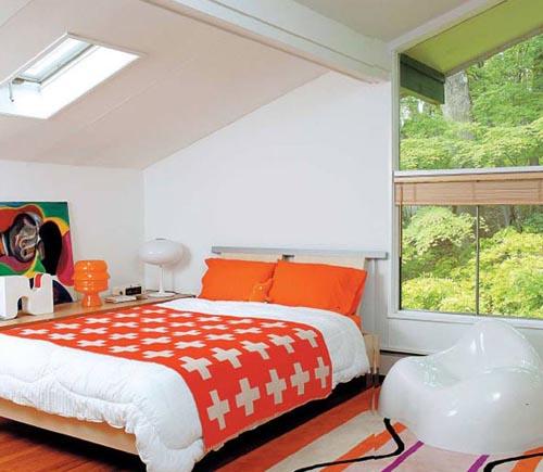 แบบ ตกแต่งห้องนอน สีสันสดใส หลายสี