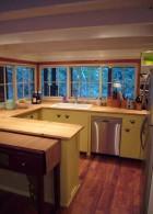 ตกแต่ง แบบ ห้องครัว เรียบง่าย เคาท์เตอร์ ทำอาหาร