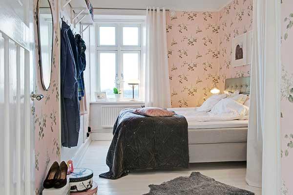 ตกแต่งห้องนอน สไตล์ Contemporary สีขาว ชมพู