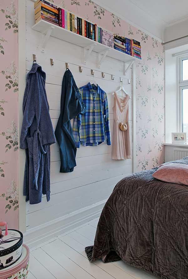 แบบห้อง เก็บเสื้อผ้า สไตล์วินเทจ สีขาว ชมพู