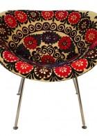 เก้าอี้ แบบกลม ลวดลาย สีสัน ฉูดฉาด