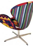 เก้าอี้ทำงาน สีสันสดใส ลวดลายแนวๆ