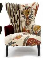 เก้าอี้ เฟอร์นิเจอร์ ลายดอกไม้