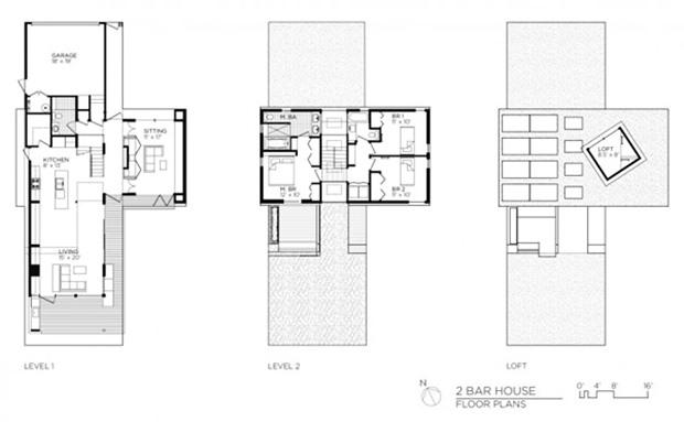 แปลนบ้าน Eco Home 2 ชั้น ประหยัดพลังงาน สไตล์โมเดิร์น