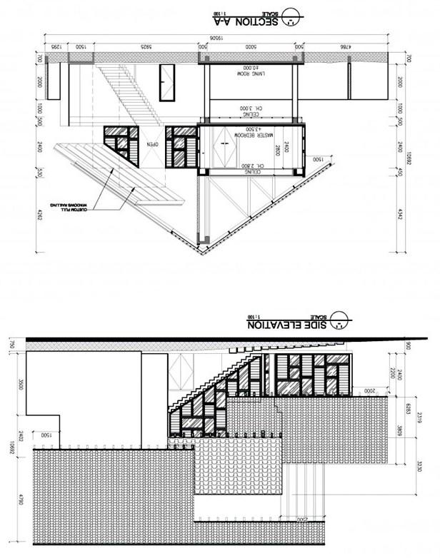 แปลนบ้าน 2 ชั้น ยกพื้นสูง มีใต้ถุน
