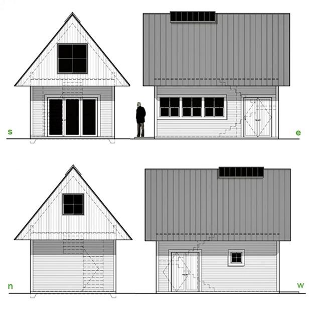 แปลนบ้านไม้ ขนาดเล็ก 2 ชั้น ประหยัดงบประมาณ