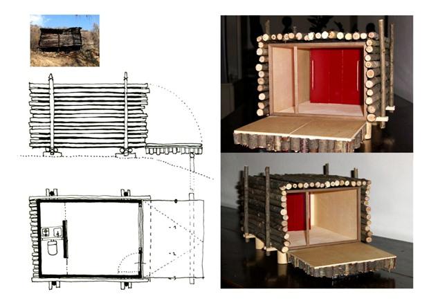 แปลนบ้าน สร้างบ้านไม้หลังเล็กๆ