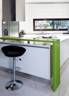 เคาน์เตอร์ แบบห้องครัว โมเดิร์น สีเขียว สีขาว