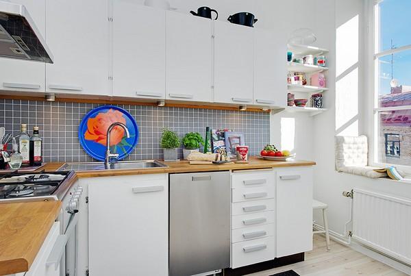 ตกแต่ง ห้องครัว ขนาดเล็ก ภายใน คอนโดมิเนียม