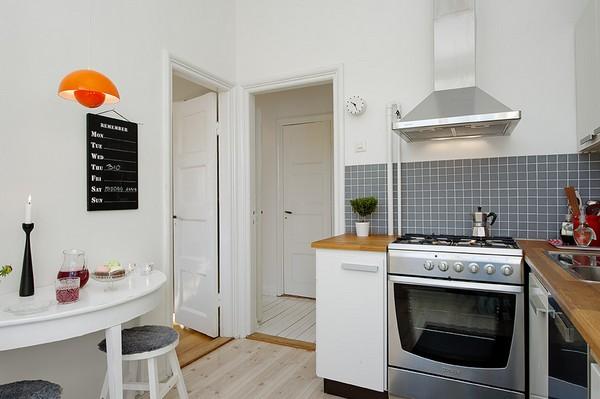 แบบห้องครัว ขนาดเล็ก ภายในคอนโดมิเนียม