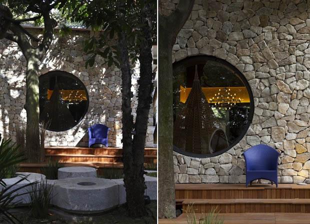 ผนังหิน สร้างบ้านให้เย็น ประหยัดพลังงาน