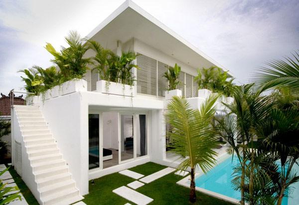 บ้านสวย การจัดสวน หน้าบ้าน สไตล์โมเดิร์น