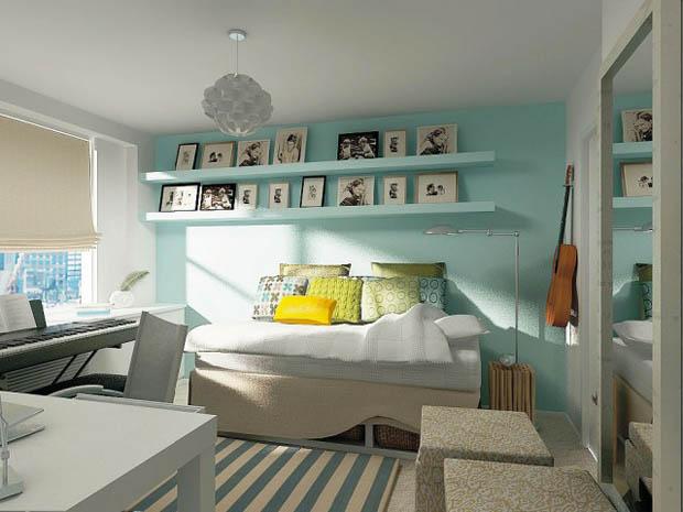 แบบห้องนอน สวยๆ ขนาดเล็ก ในหอพัก อพาร์ทเม้นท์