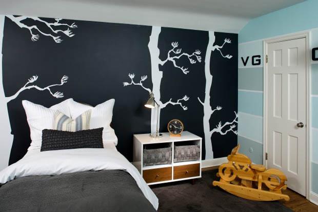 ทาสีห้องนอน ศิลปะลวดลายที่สวยงาม
