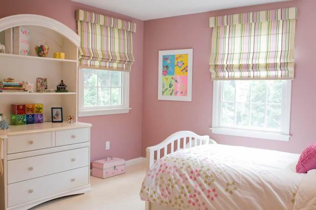 ตกแต่งห้องนอนแบบง่ายๆ ประหยัด สีชมพู วินเทจ