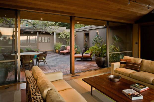 จัดสวน ตกแต่งสวน ภายในบ้าน ห้องนั่งเล่น