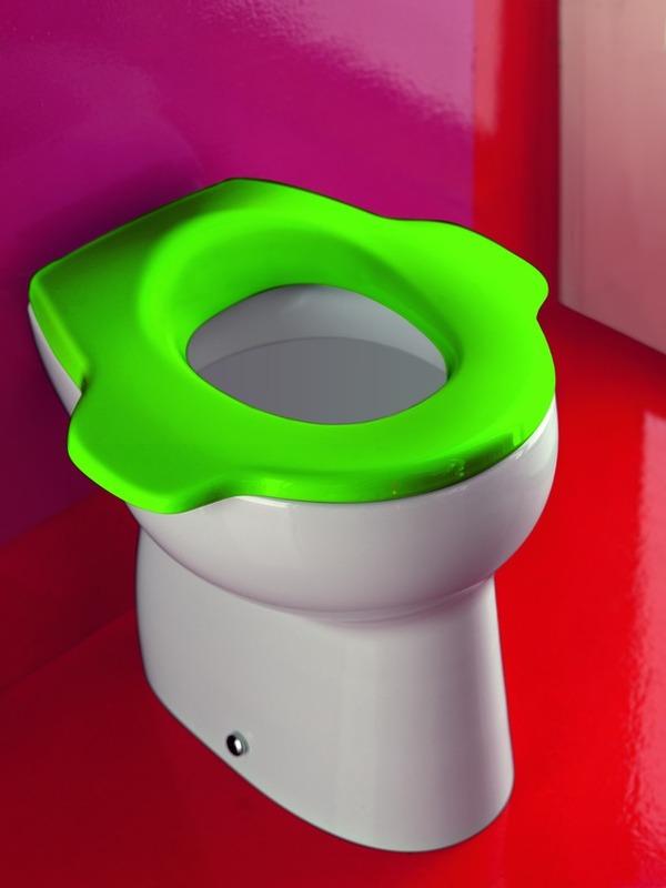 ชักโครกเด็ก สีเขียว