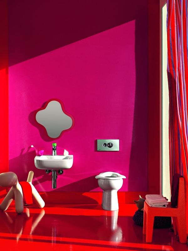 ห้องน้ำเด็กสีสันสดใส