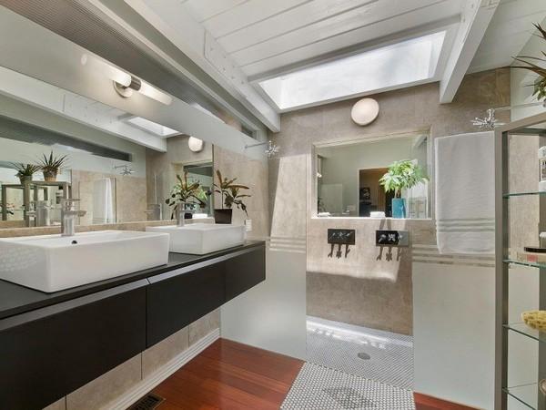 ตกแต่งห้องน้ำ ห้องกระจก ในสไตล์ Contemporary