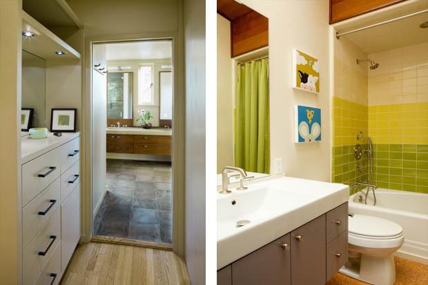 ตกแต่งห้องน้ำขนาดเล็ก ในบ้านไม้ชั้นเดียว