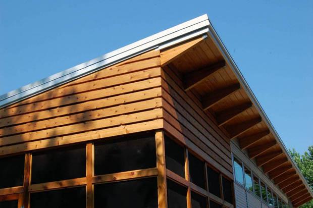 โครงสร้างไม้ ทำหลังคา แบบแบน