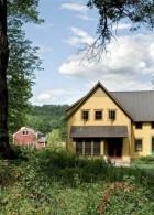 แบบบ้านสไตล์ 2 ชั้น ฟรี Contemporary สีเหลือง