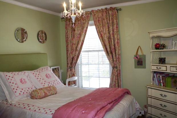 แบบห้องนอน สีสวยๆ สีชมพู เขียวอ่อน