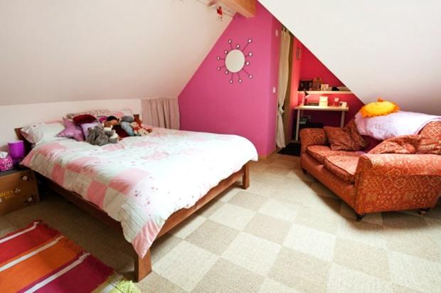 ตกแต่งห้องนอนสีหวานๆ สีชมพู