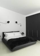ตกแต่งห้องนอน สีขาวดำ สไตล์โมเดิร์น