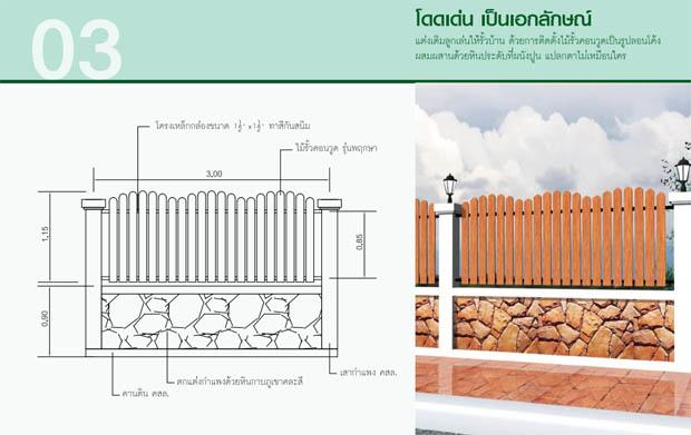 แบบรั้วไม้สวยๆ สร้างบ้านใหม่