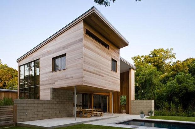 แบบบ้านไม้ 2 ชั้น ชั้นล่างปูนอิฐบล็อก ชั้นบนไม้