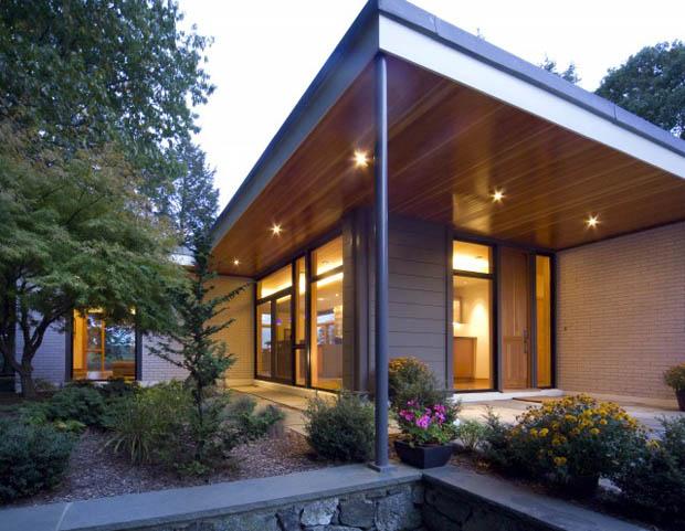 แบบบ้านไม้ จัดสวนบริเวณบ้าน แบบเล่นระดับ