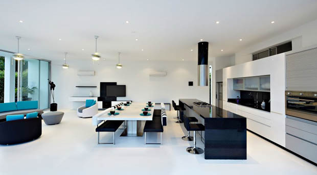 Modern home design interior