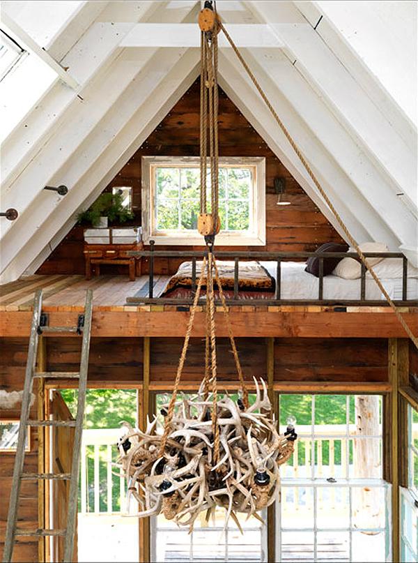 แบบบ้านกระท่อมไม้ สร้างไว้บนต้นไม้ใหญ่