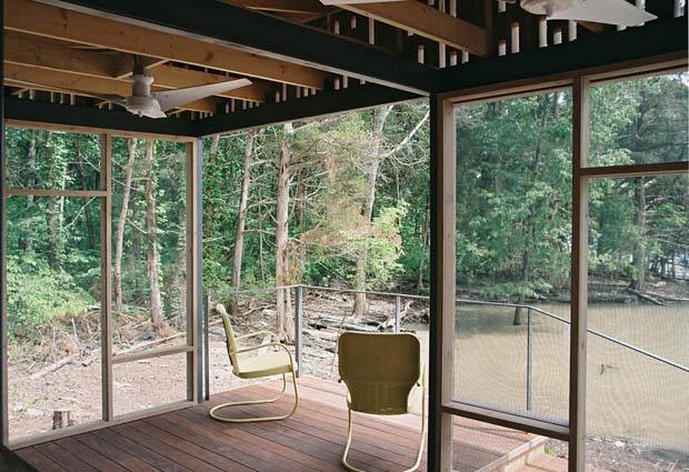 สร้างบ้านไม้ในป่า