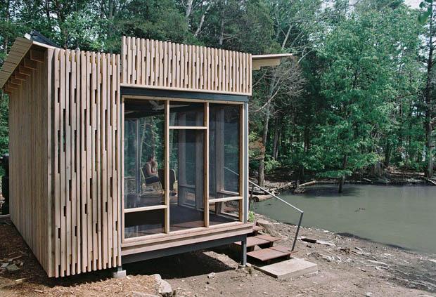 สร้างที่พักในป่า
