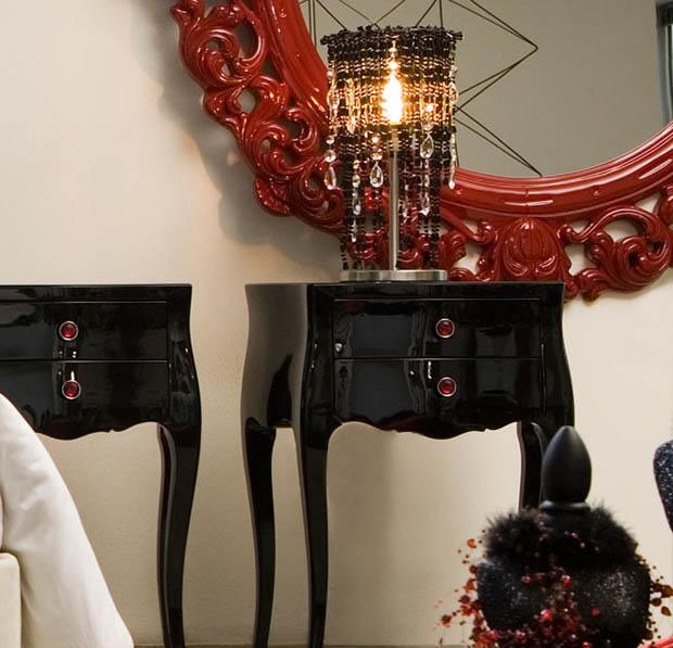 โต๊ะเครื่องแป้ง สไตล์หลุยส์ สีดำ
