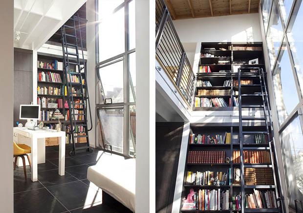 แบบห้องเก็บหนังสือ ตู้หนังสือ จัดห้องหนังสือเล็กๆ ในบ้าน