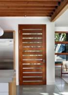 ประตูไม้ แบบเพดานระแนงไม้