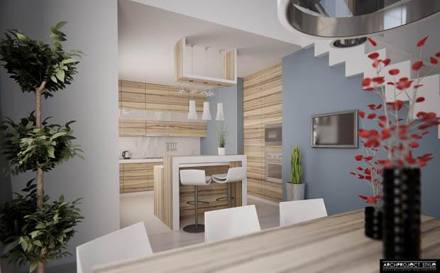 แบบห้องครัวที่ดูอ่อมนุ่ม สบายตา น่าทำอาหาร