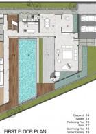 แปลนบ้าน แผนผังบ้าน 3 ชั้น สไตล์โมเดิร์น