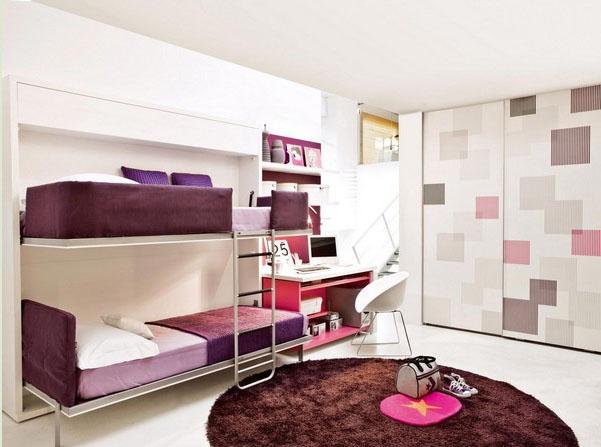 แบบห้องนอนน่ารักๆ จัดสรรพื้นที่แคบๆ ด้วยเฟอร์นิเจอร์ที่ ...