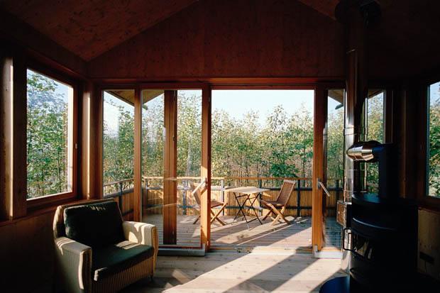แบบระเบียงไม้ ชานบ้านไม้ สำหรับนั่งเล่น