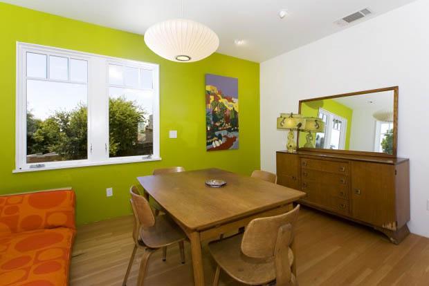 มุมห้องกาแฟ โต๊ะกาแฟไม้ ใน Home Office
