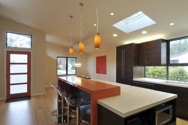 โคมไฟห้อยเพดาน ตกแต่งประดับในห้องครัวโมเดิร์น