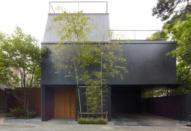 แบบบ้าน 3 ชั้น สไตล์โมเดิร์น ญี่ปุ่น